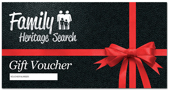 Family Heritage Search Gift Voucher