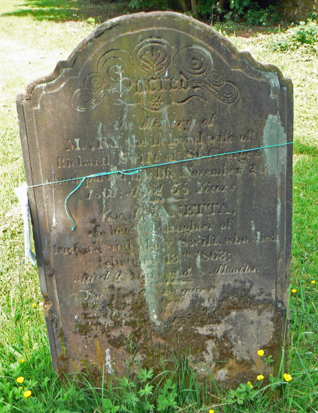 Headstone of Mary & Janetta Swift